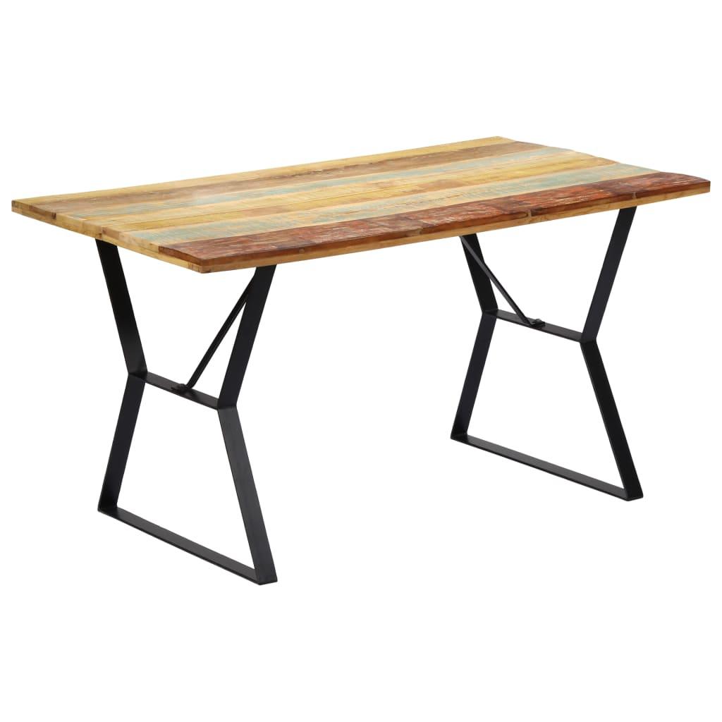 vidaXL Table de salle à manger 140x80x76cm Bois de récupération massif