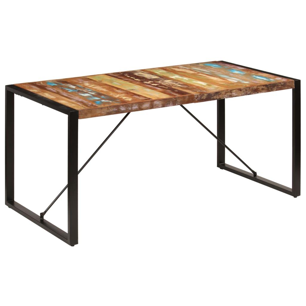 vidaXL Table de salle à manger 160x80x75cm Bois de récupération massif