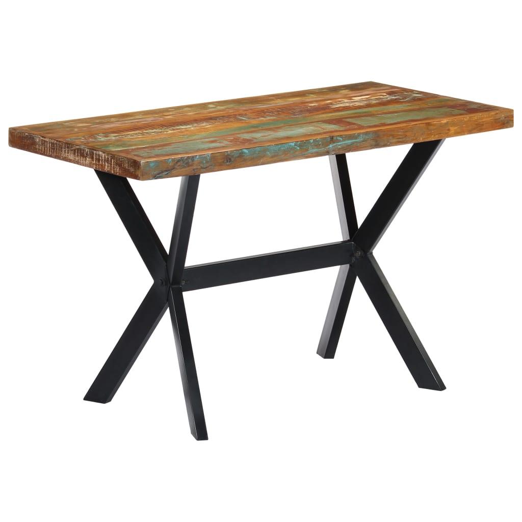 vidaXL Table de salle à manger 120x60x75cm Bois de récupération massif