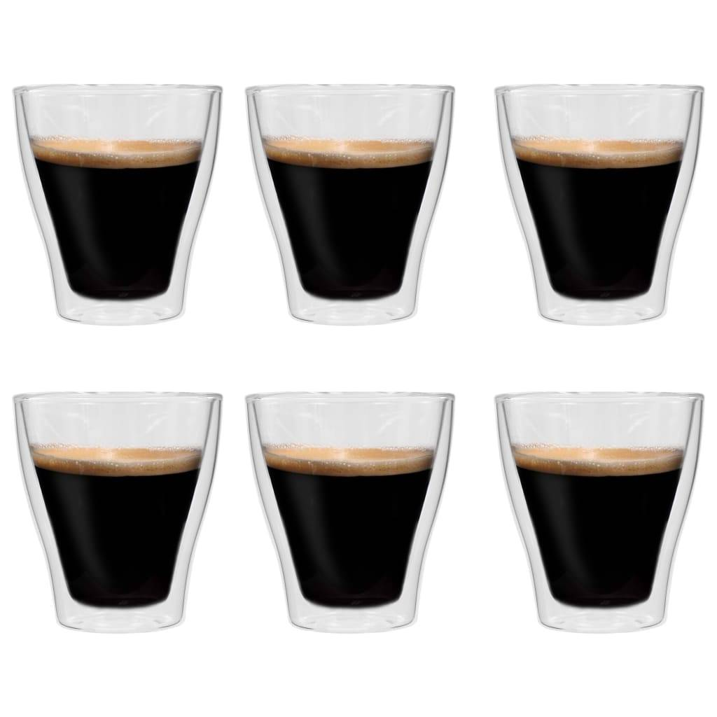 vidaXL Verres à latte macchiato double paroi 6 pcs 280 ml