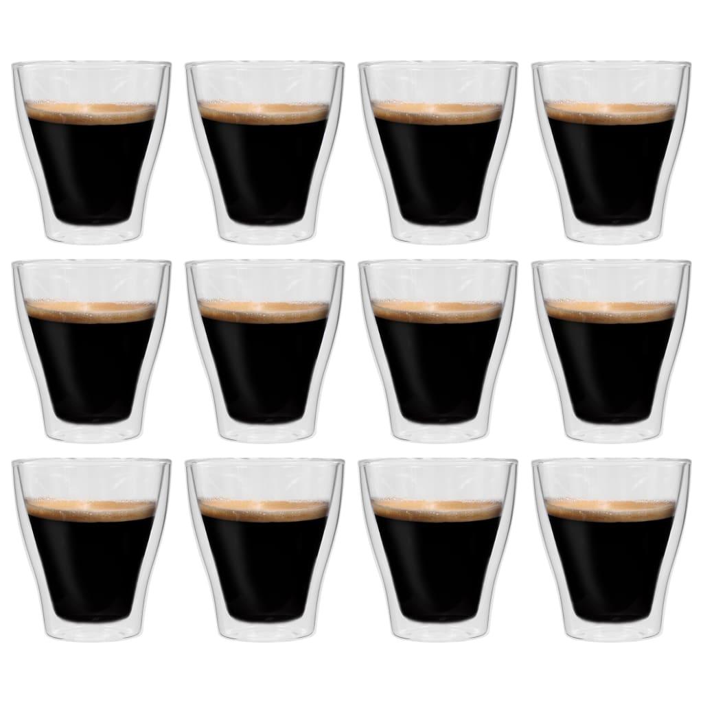 vidaXL Verres à latte macchiato double paroi 12 pcs 280 ml