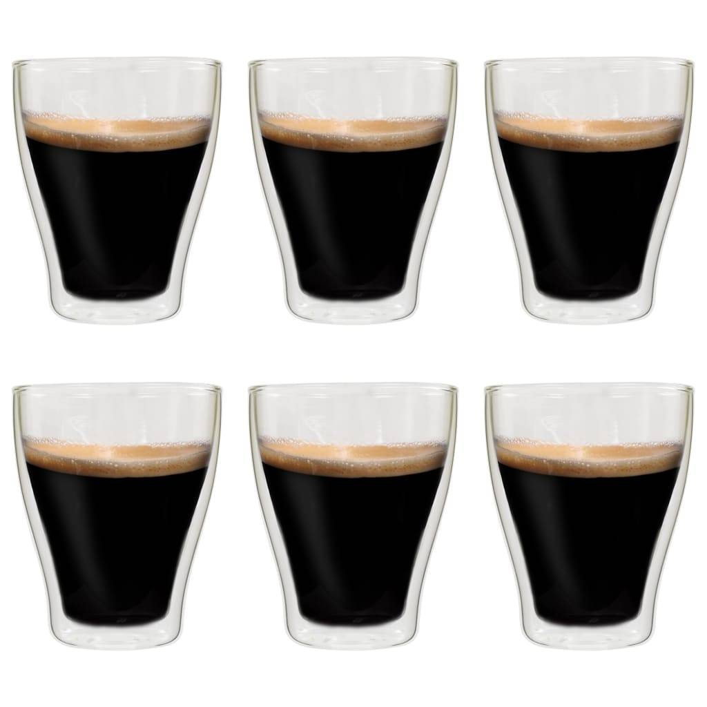 vidaXL Verres à latte macchiato double paroi 6 pcs 370 ml
