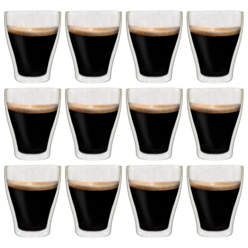 vidaXL Verres à latte macchiato double paroi 12 pcs 370 ml