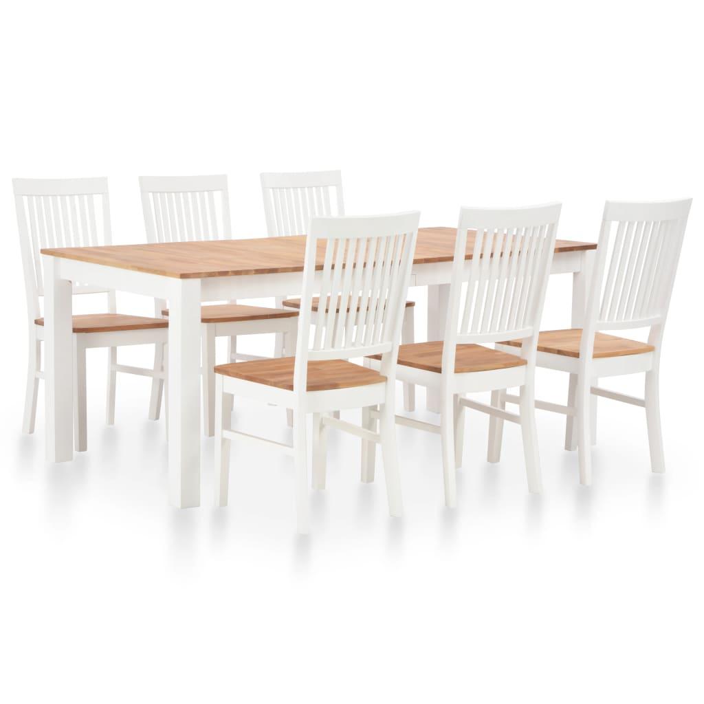 vidaXL Mobilier de salle à manger 7 pcs Bois de chêne solide