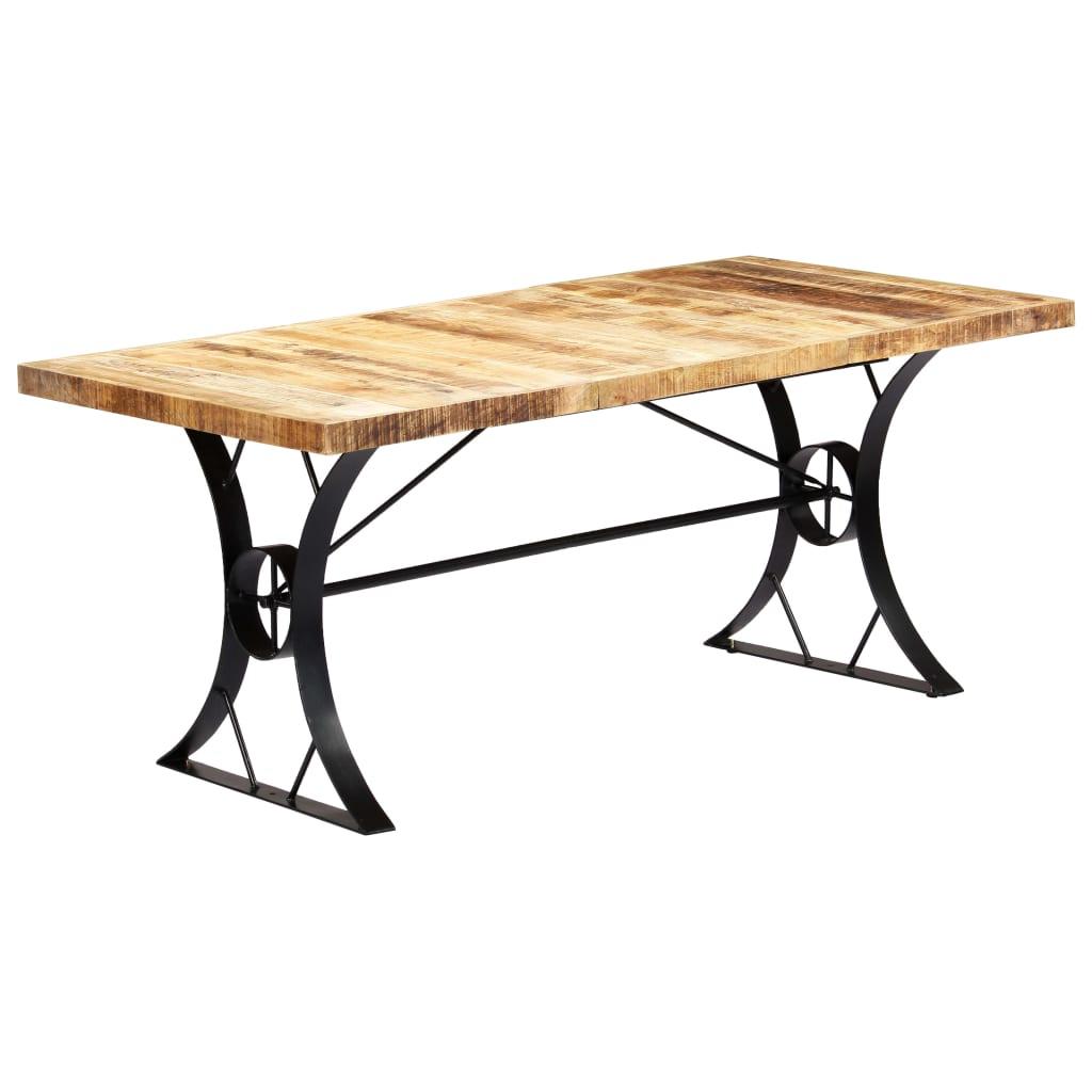 vidaXL Table de salle à manger 180x90x76 cm Bois de manguier massif