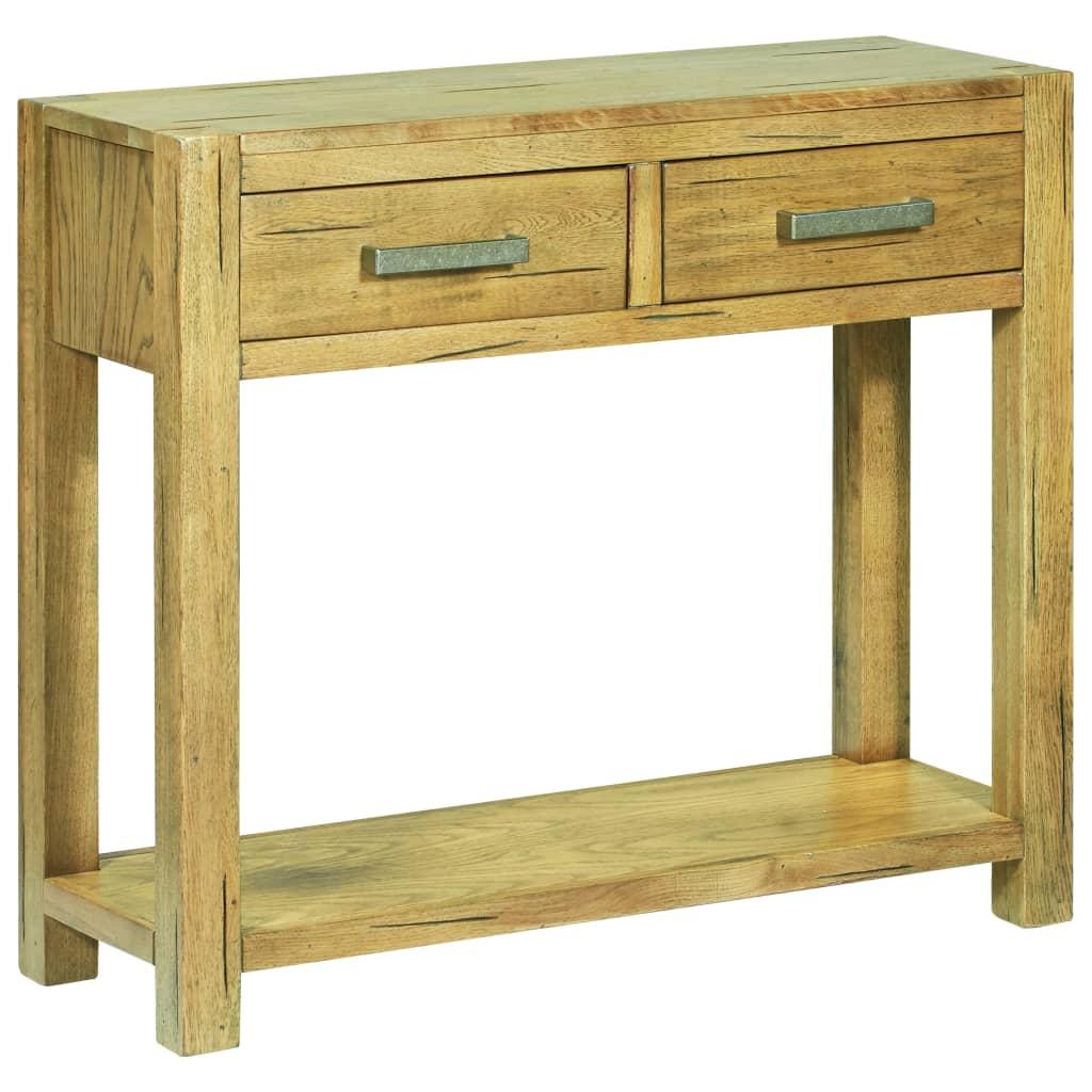 vidaXL Table console 83 x 30 x 73 cm Bois de chêne rustique