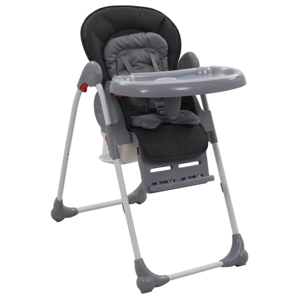 vidaXL Chaise haute pour bébé Gris