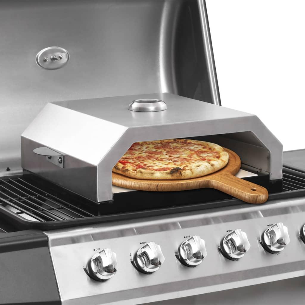 vidaXL Four à pizza avec pierre en céramique pour barbecue au charbon