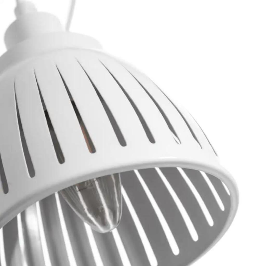 Tous Mes Meubles Suspension 3 ampoules Métal blanc - GONDO - L 20 x l 20 x H 95