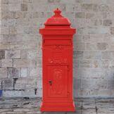 vidaXL Boîte aux lettres à pilier Aluminium Vintage antirouille Rouge