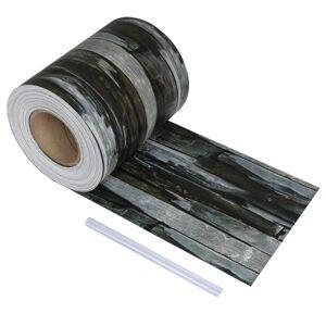 vidaXL Rouleau de bande de clôture PVC 70x0,19 m Pierre