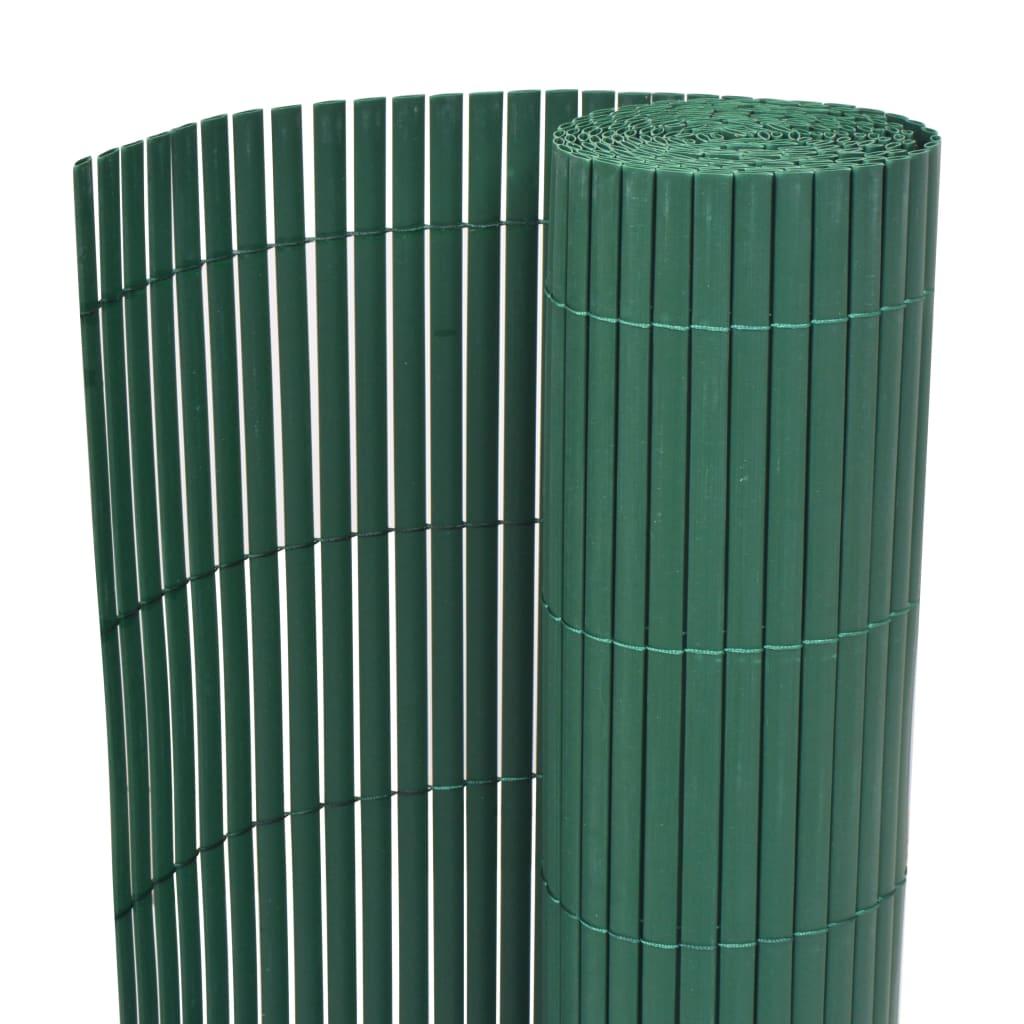 vidaXL Clôture de jardin Double face PVC 150 x 500 cm Vert
