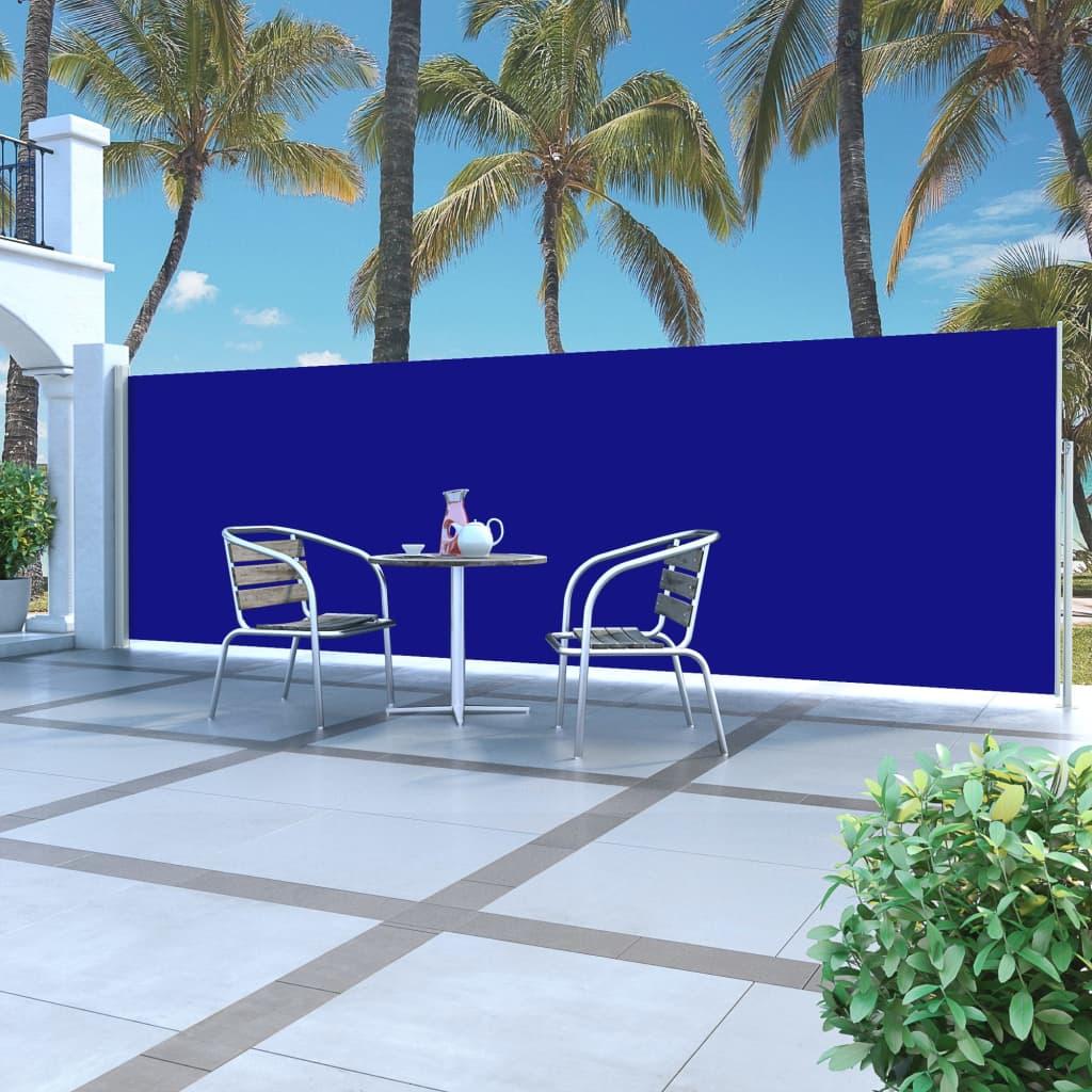 vidaXL Auvent latéral rétractable 160 x 500 cm Bleu