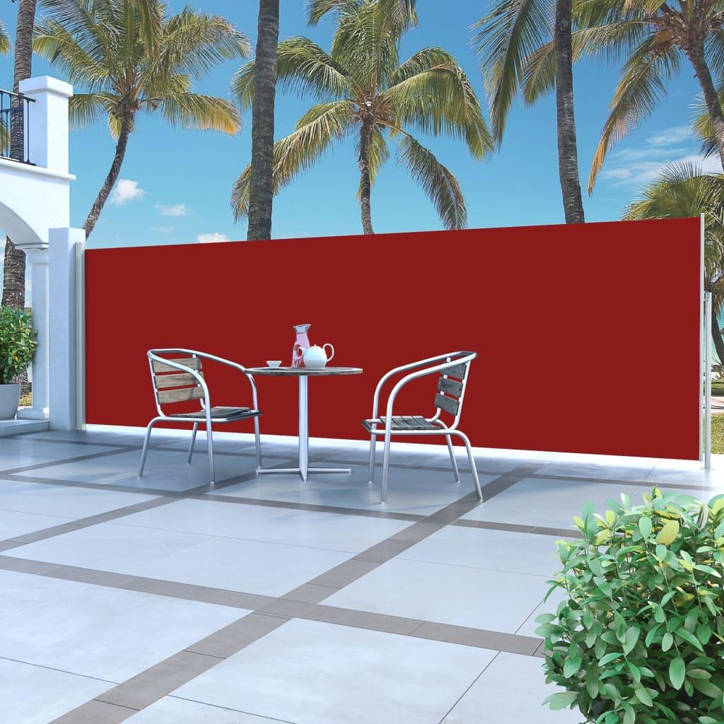 vidaXL Auvent latéral rétractable 160 x 500 cm Rouge