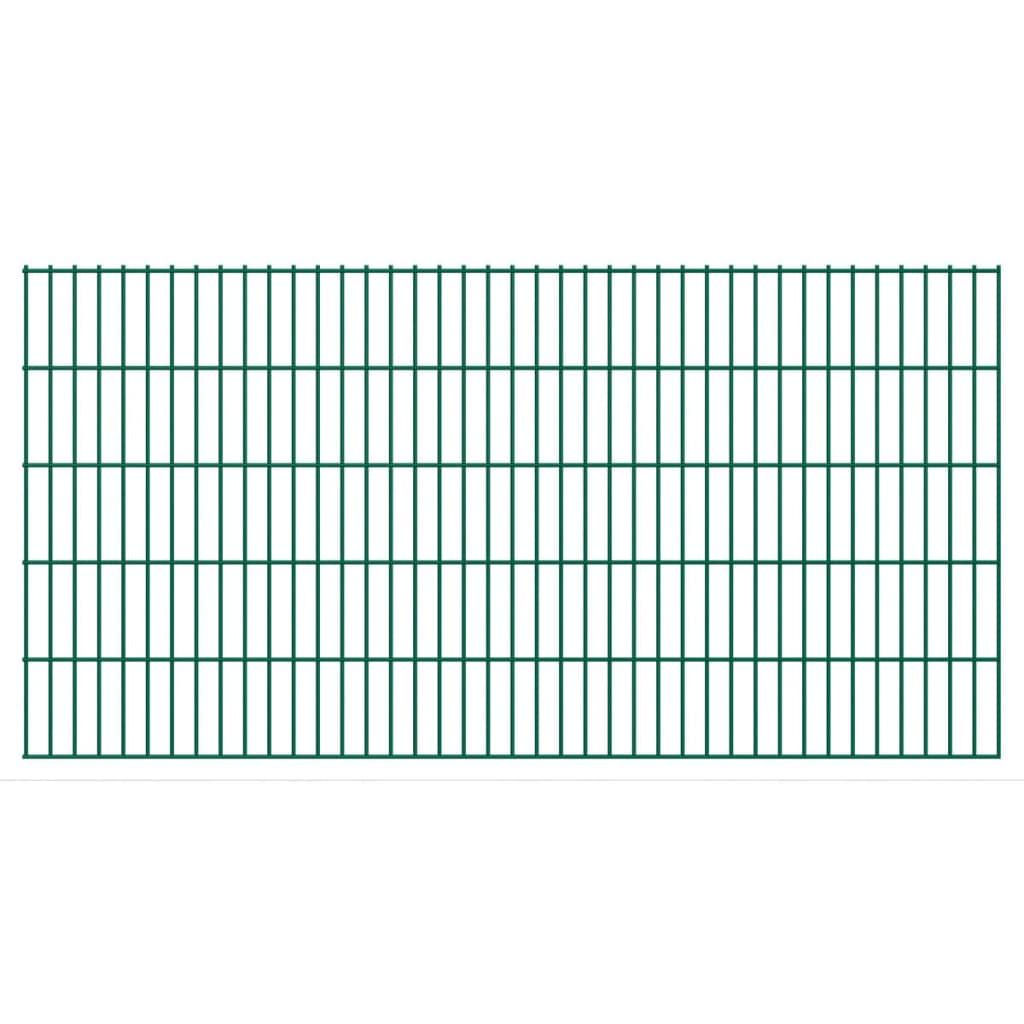 vidaXL Panneau de clôture 2D pour jardin 2008x1030 mm Vert