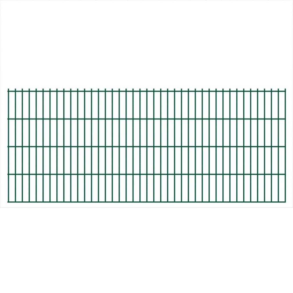 vidaXL Panneaux de clôture 2D pour jardin 2008x830 mm 16 m Vert