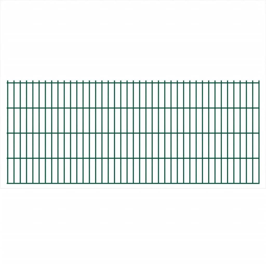 vidaXL Panneaux de clôture 2D pour jardin 2008x830 mm 28 m Vert