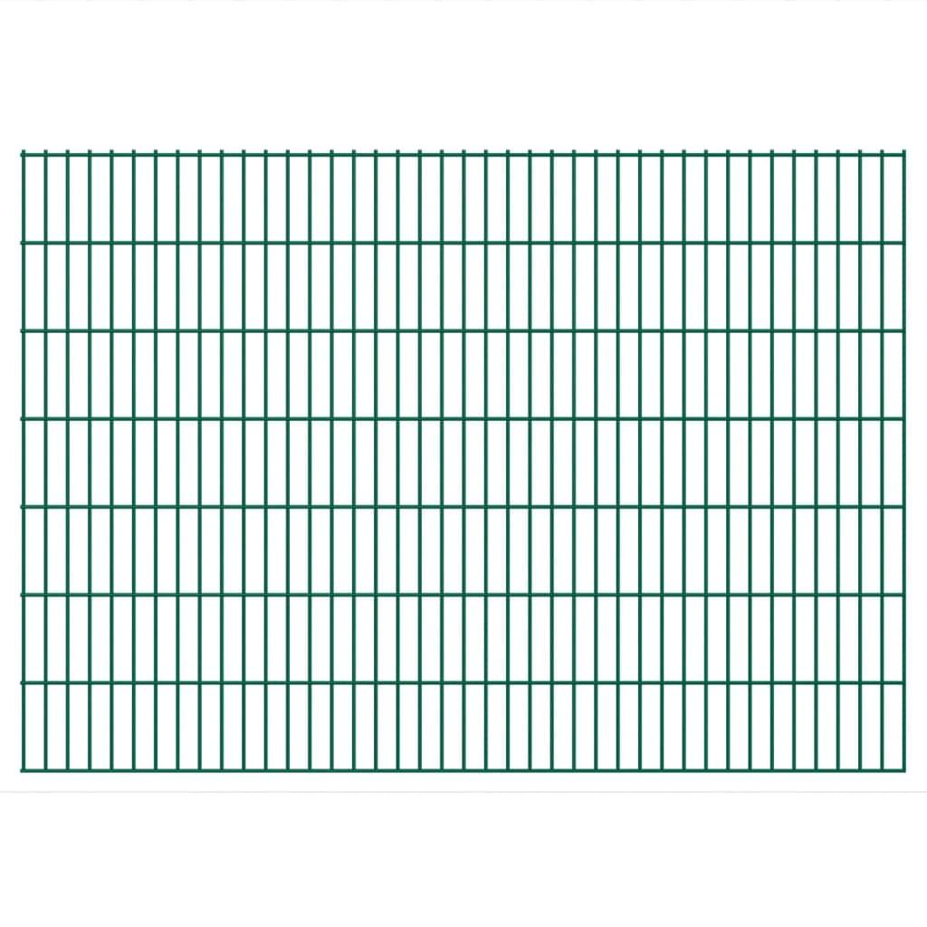 vidaXL Panneaux de clôture 2D pour jardin 2008x1430 mm 6 m vert