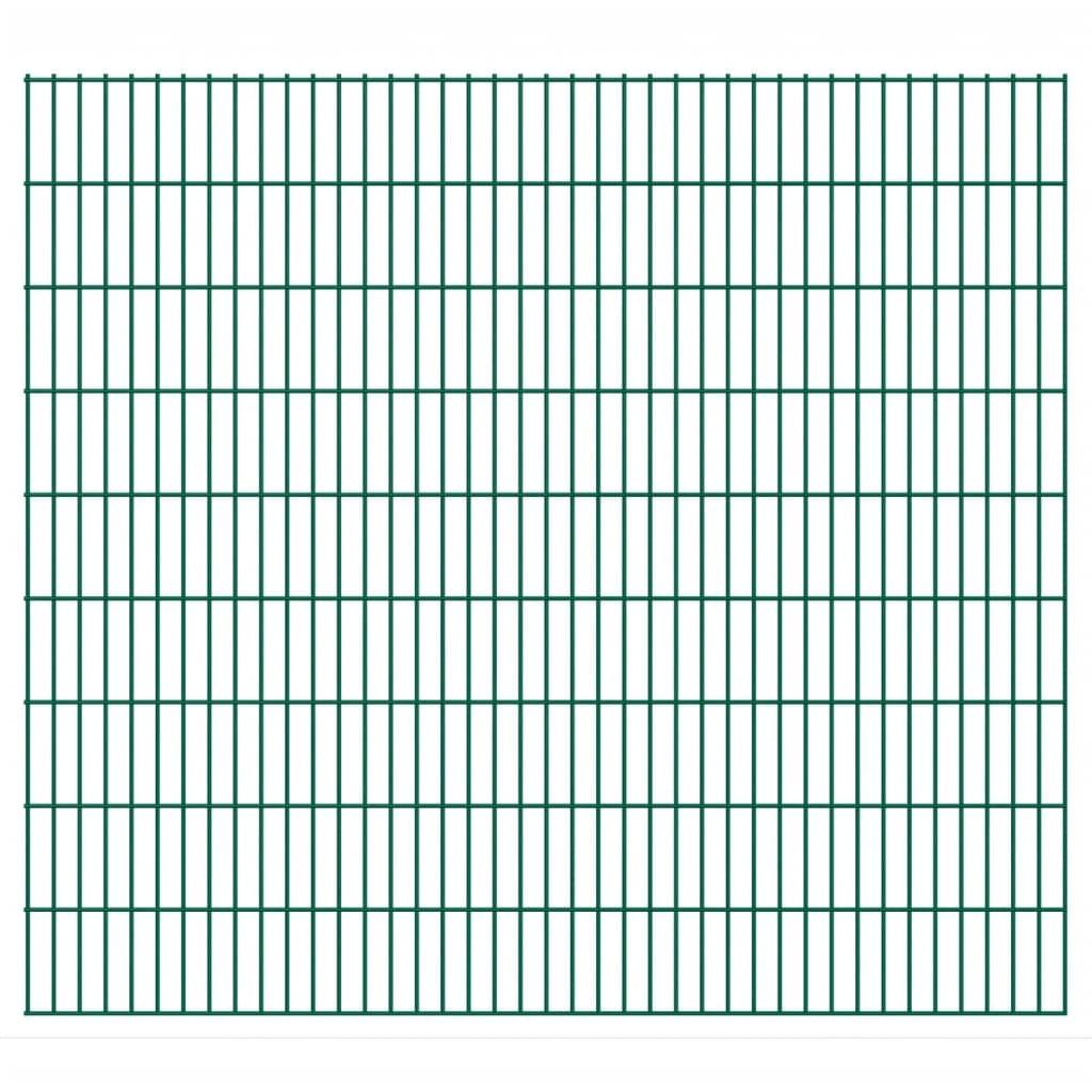 vidaXL 2D Panneaux de clôture de jardin 2008 x 1830 mm 48 m Vert