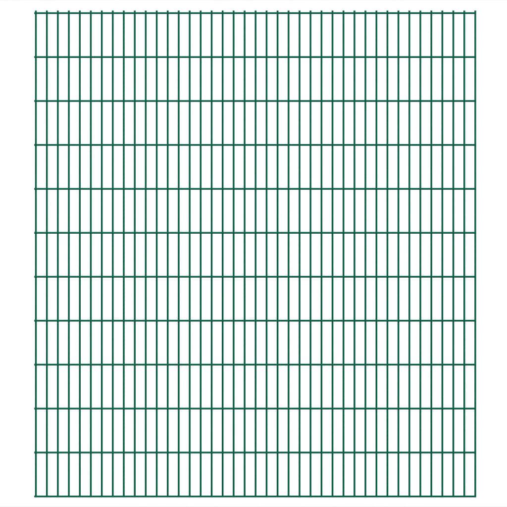 vidaXL Panneaux de clôture 2D de jardin 2008 x 2230 mm 24 m Vert