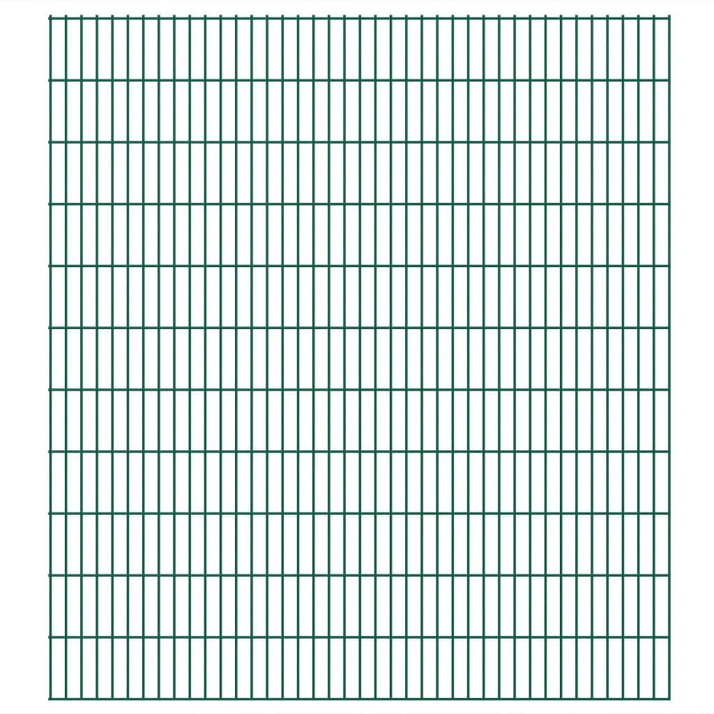 vidaXL Panneaux de clôture 2D de jardin 2008 x 2230 mm 36 m Vert