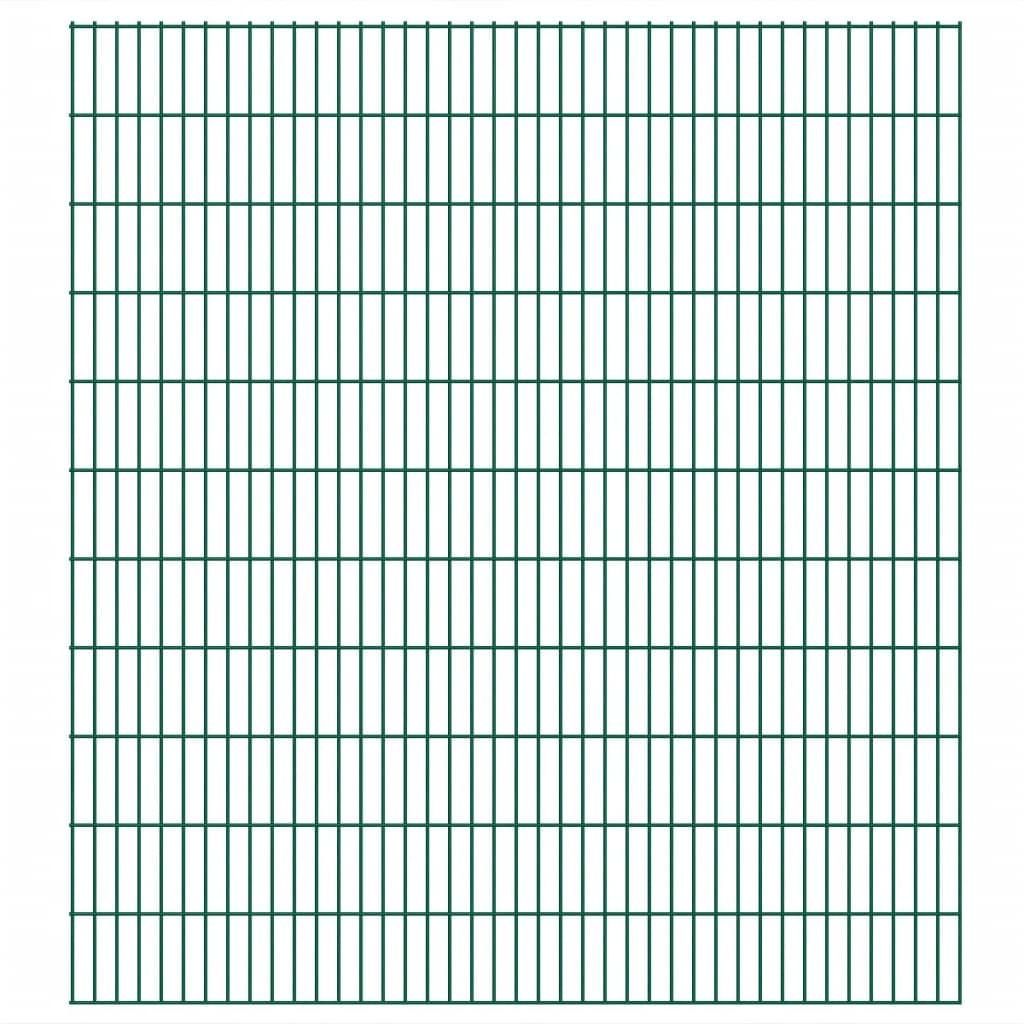 vidaXL Panneaux de clôture 2D de jardin 2008 x 2230 mm 40 m Vert
