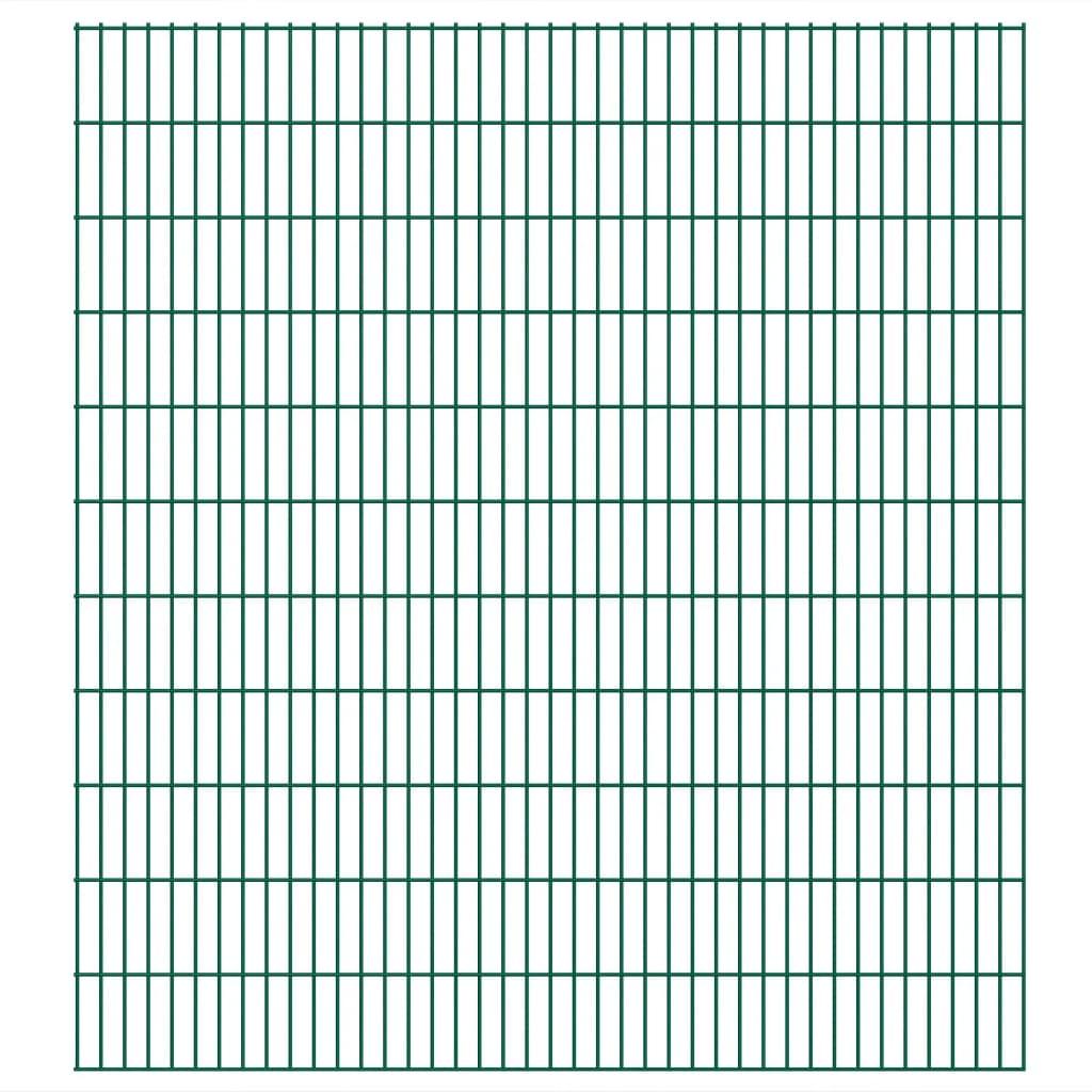 vidaXL Panneaux de clôture 2D de jardin 2008 x 2230 mm 42 m Vert