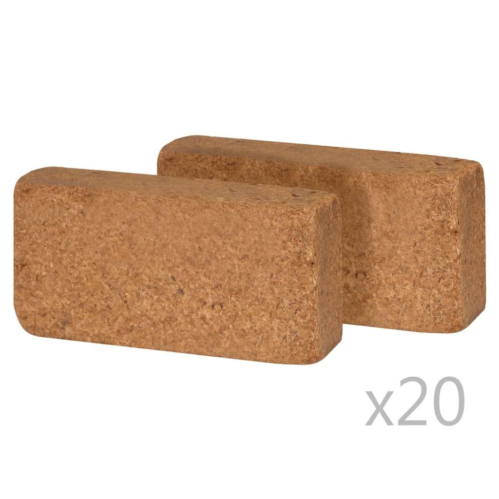 vidaXL Bloc de coco 40 pcs 650 g 20 x 10 x 4 cm