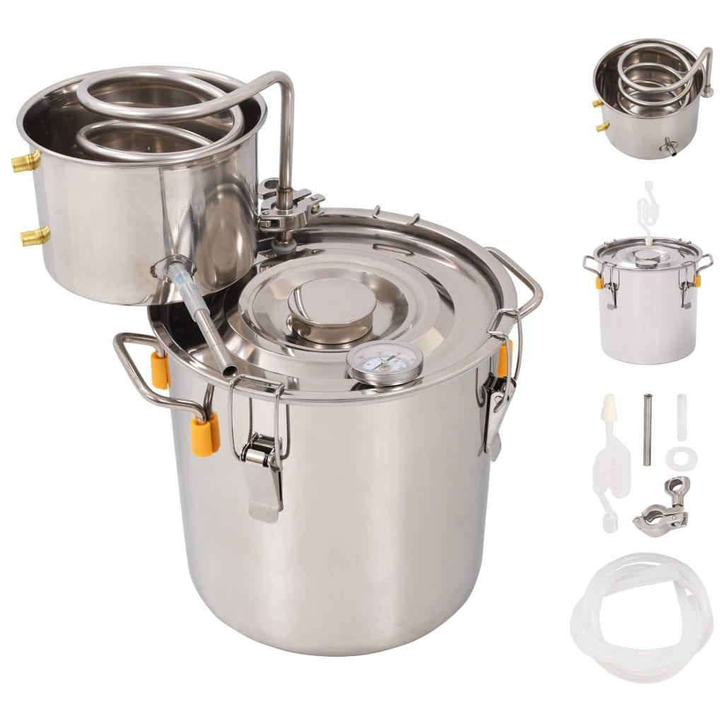 vidaXL Distillateur d'alcool Acier inoxydable 10 L