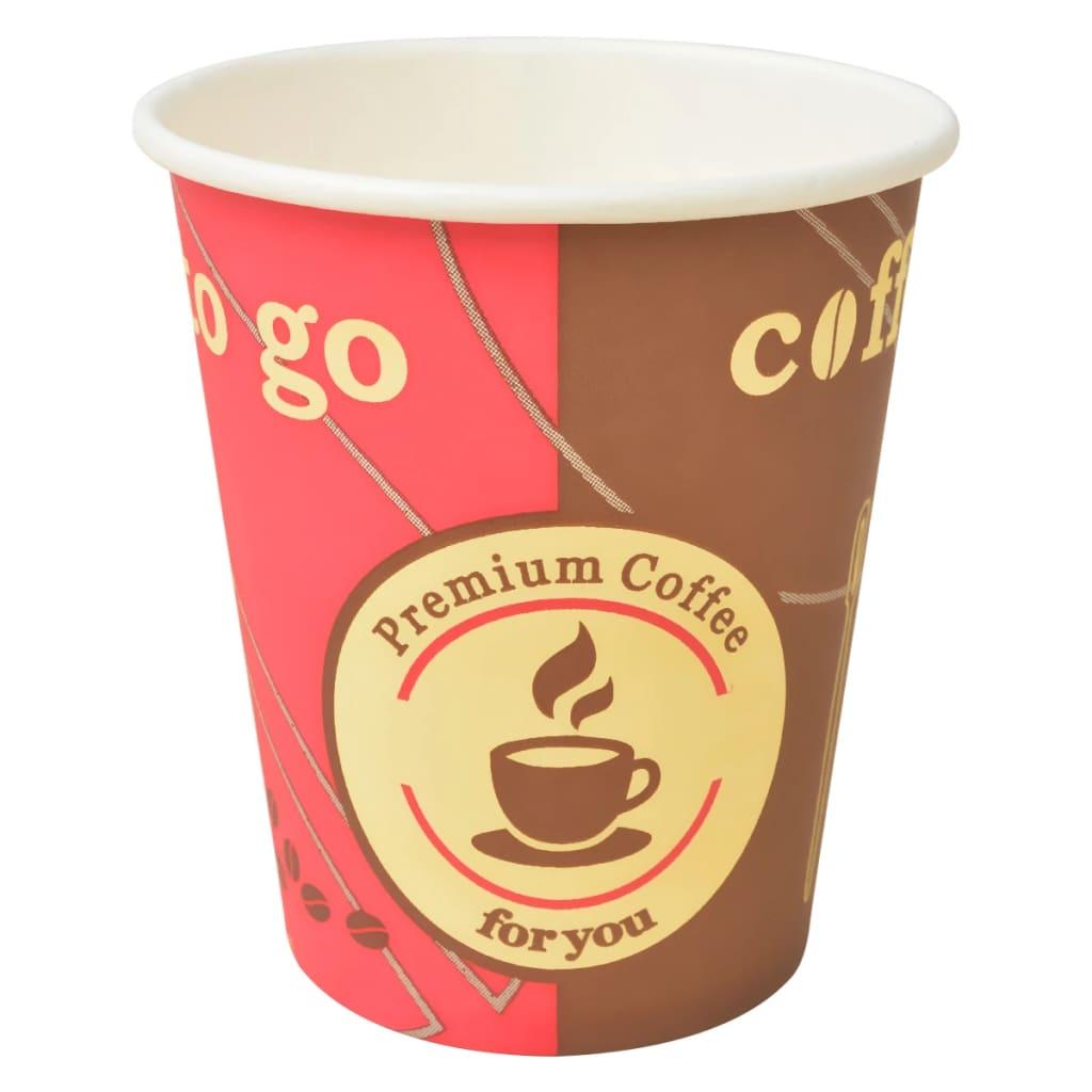 vidaXL Gobelet à café jetable 1000 pcs Papier 240 ml (8 oz)