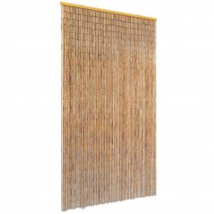 vidaXL Rideau de porte contre insectes Bambou 100 x 200 cm