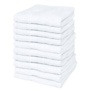 vidaXL Serviette pour invités 10 pcs Coton 500 gsm 30 x 50 cm Blanc