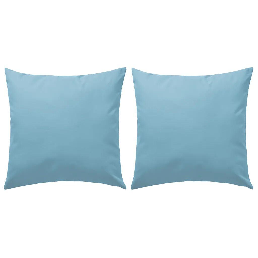 vidaXL Oreiller d'extérieur 2 pcs 60 x 60 cm Bleu clair