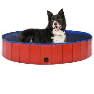 vidaXL Piscine pliable pour chiens Rouge 160x30 cm PVC - Publicité