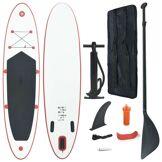 vidaXL Stand Up Paddle Planche à rame Rouge et blanc