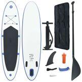 vidaXL Stand Up Paddle Planche à rame Bleu et blanc