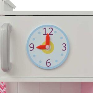 vidaXL Cuisine jouet 82 x 30 x 100 cm Bois Rose et blanc - Publicité
