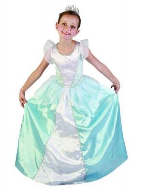 aa74c8c3473c5 Chez Deguisetoi. Déguisement princesse bleue fille S 4-6 ans (110-120 cm)