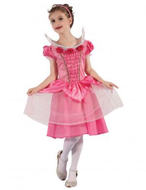 0f89ba1977307 Chez Deguisetoi. Déguisement robe de bal princesse fille S 4-6 ans (110-120  cm