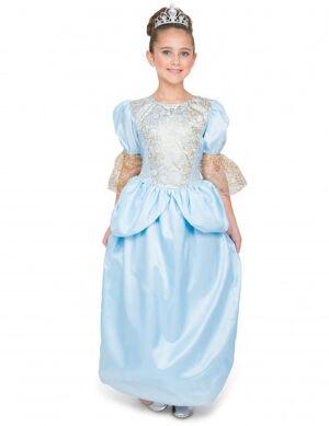 5e7f23f359b7e Chez Deguisetoi. Déguisement princesse à la chaussure de verre fille 4-6  ans (115-128cm