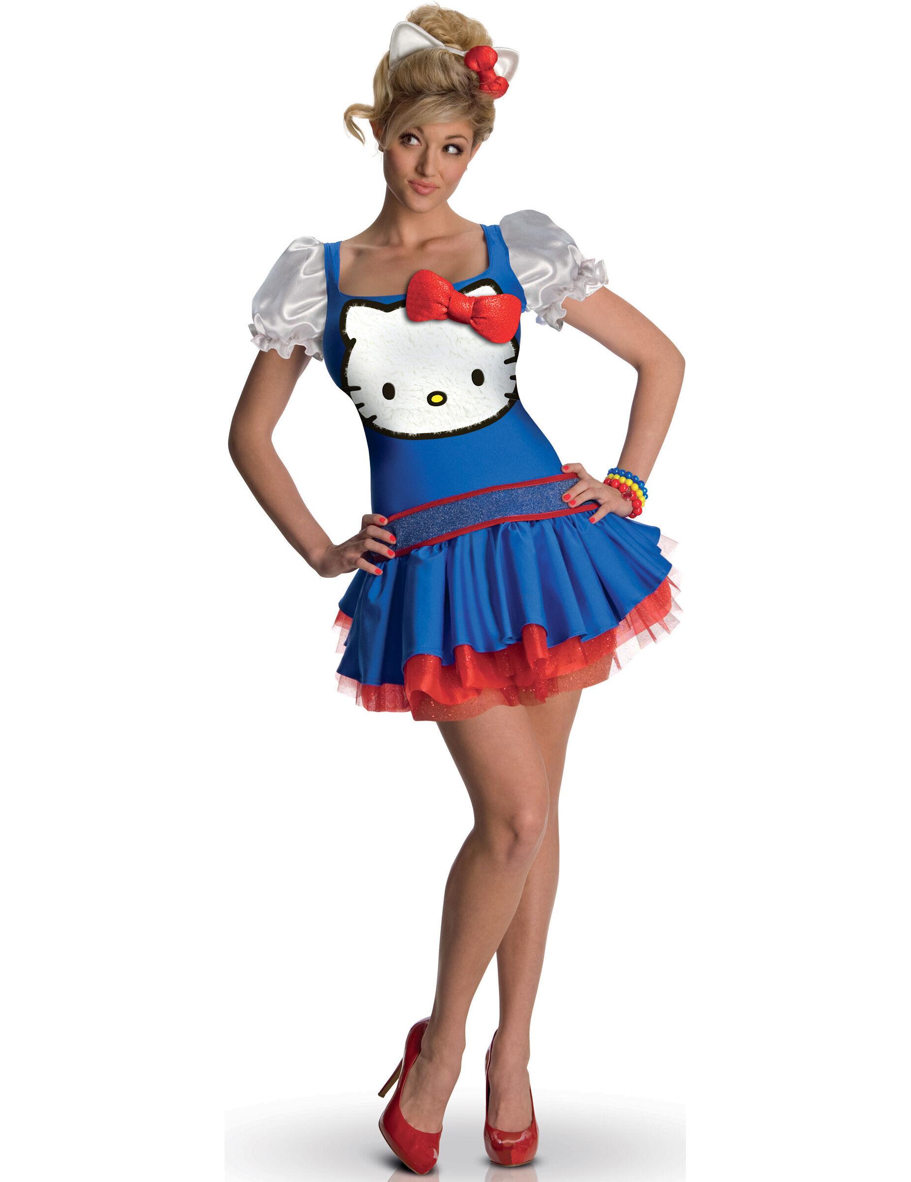 Deguisetoi Déguisement Hello Kitty bleu adulte - Taille: XS