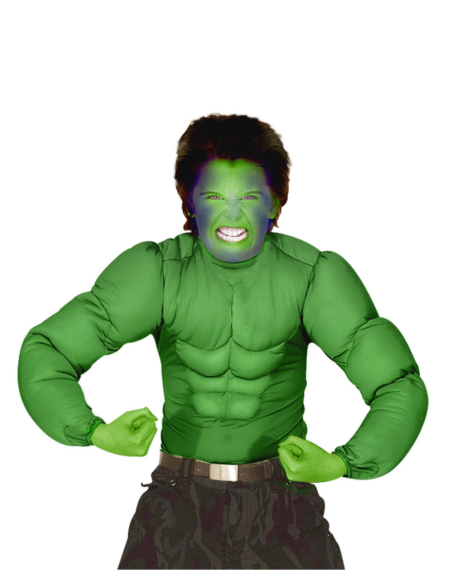 Deguisetoi Haut muscles verts enfant - Taille: 11-13 ans (158 cm)