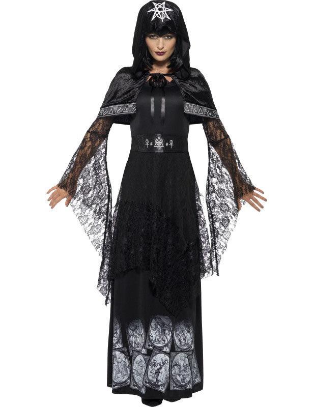 Deguisetoi Déguisement maitresse de magie noire adulte Halloween - Taille: M