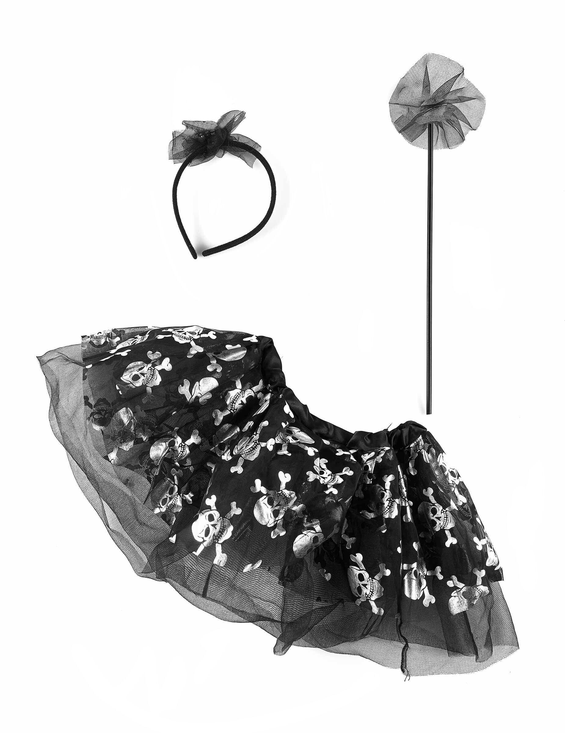 Deguisetoi Tutu et accessoires squelette araignée bébé Halloween - Taille: 1 à 2 ans