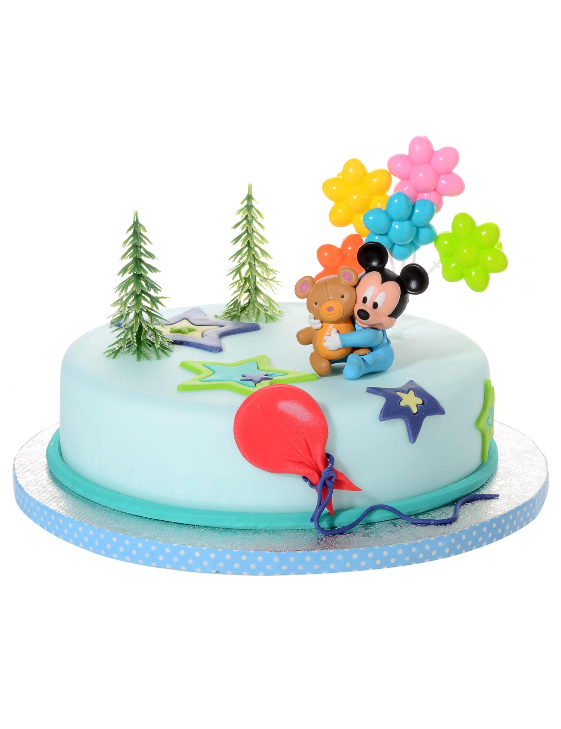 Deguisetoi 4 Accessoires pour gâteau Bébé Mickey