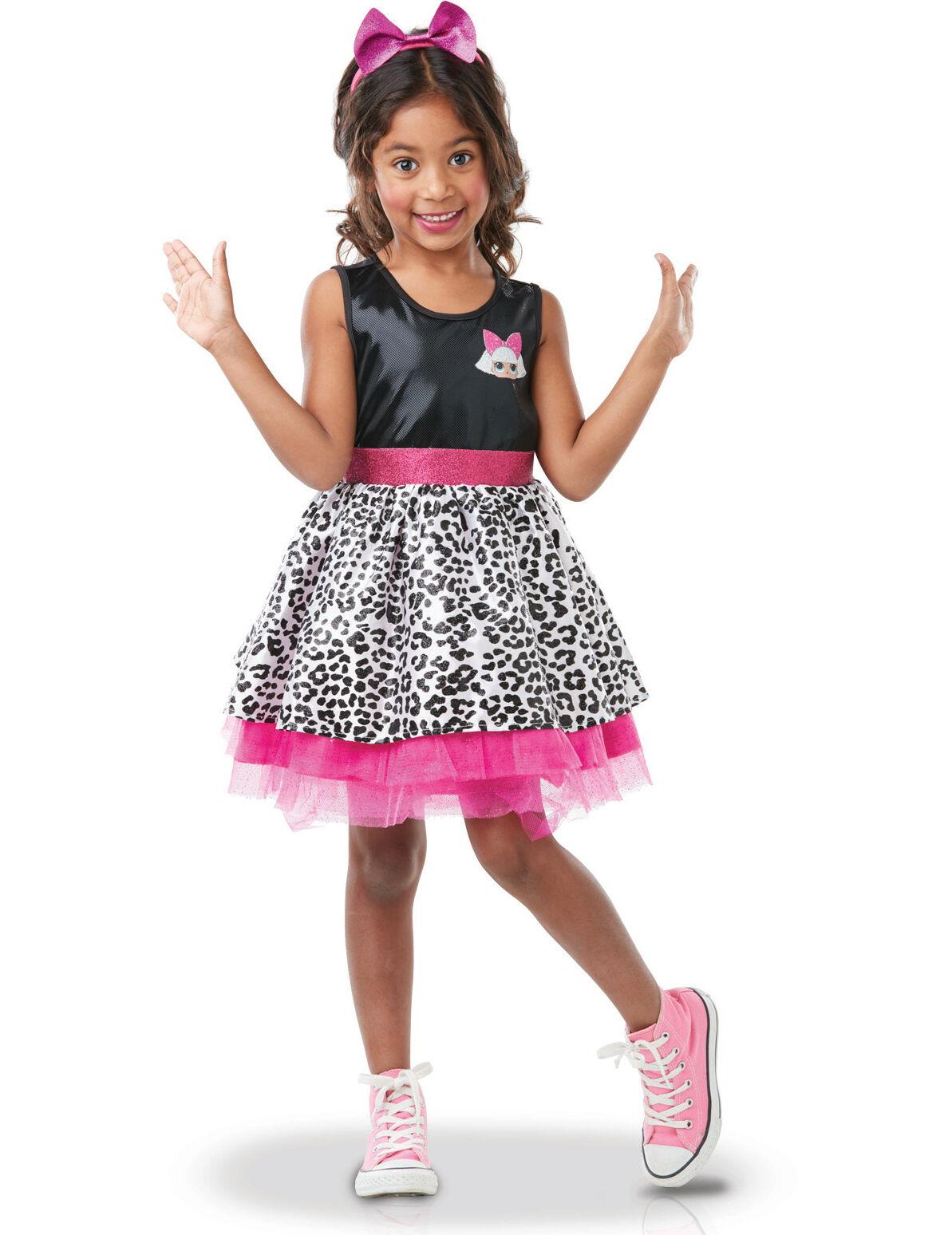Deguisetoi Déguisement luxe Diva LOL Surprise enfant - Taille: 7 à 8 ans (117 à 128 cm)