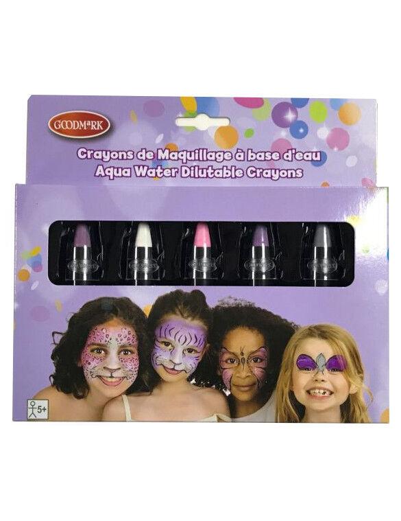 Deguisetoi 5 crayons maquillage à l'eau couleurs pastel enfant 2,8 g
