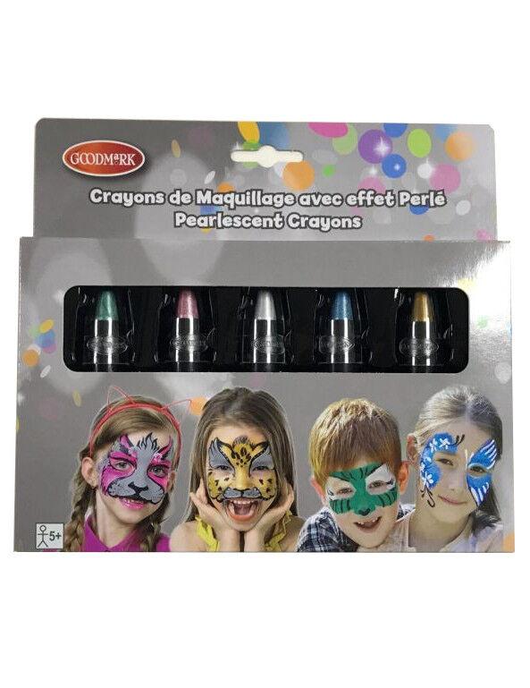 Deguisetoi 5 crayons maquillage à l'eau effet perlé enfant 2,8 g