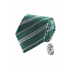 Deguisetoi Réplique cravate deluxe avec pin's Serpentard Harry Potter