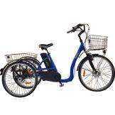 CYCLO2 Vélo électrique 3 roues 14Ah démarrage 6km/h à différentiel frein disque autonomie 80km